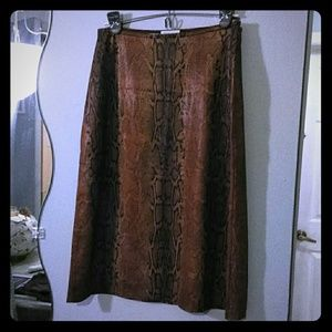 Brown Snake Skin Skirt
